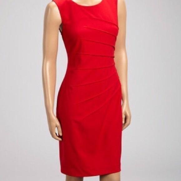 c832a1ed12 NWT CALVIN KLEIN RED DRESS